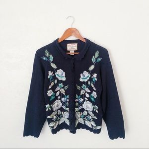 Vtg. Embroidered Cardigan